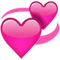 Download Revolving Pink Hearts Emoji Icon