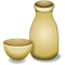 Download Sake Bottle and Cup Emoji Icon