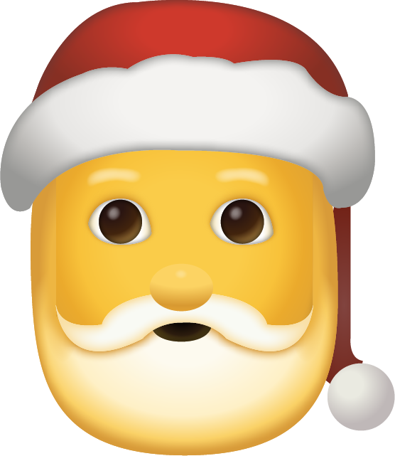 Download Santa Claus Iphone Emoji JPG