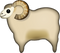 Download Sheep Emoji In PNG