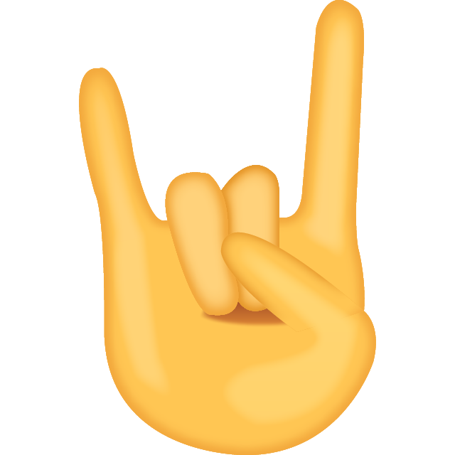 Download Sign of the Horns Emoji