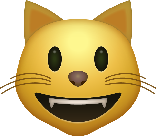 Download Smiling Cat Emoji Icon