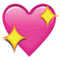 Download Sparkling Pink Heart Emoji Icon