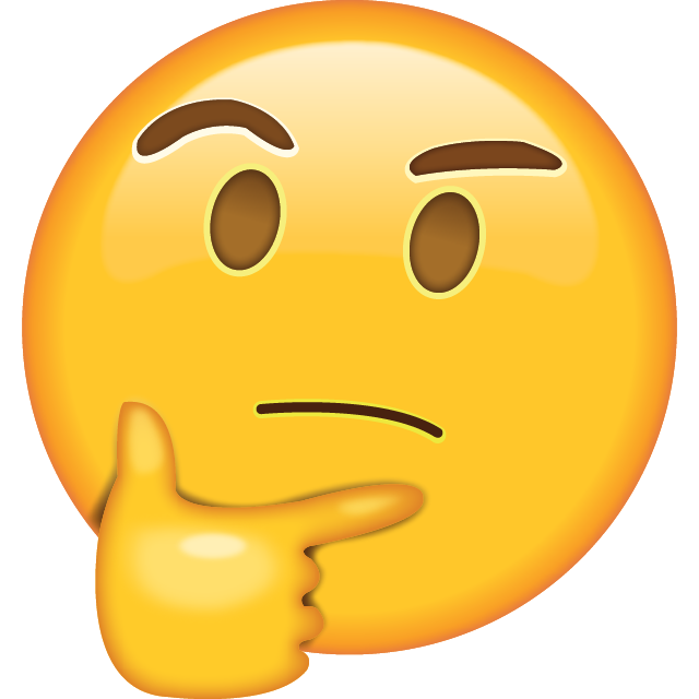 Download Thinking Face Emoji [Free PNG Apple Emojis]