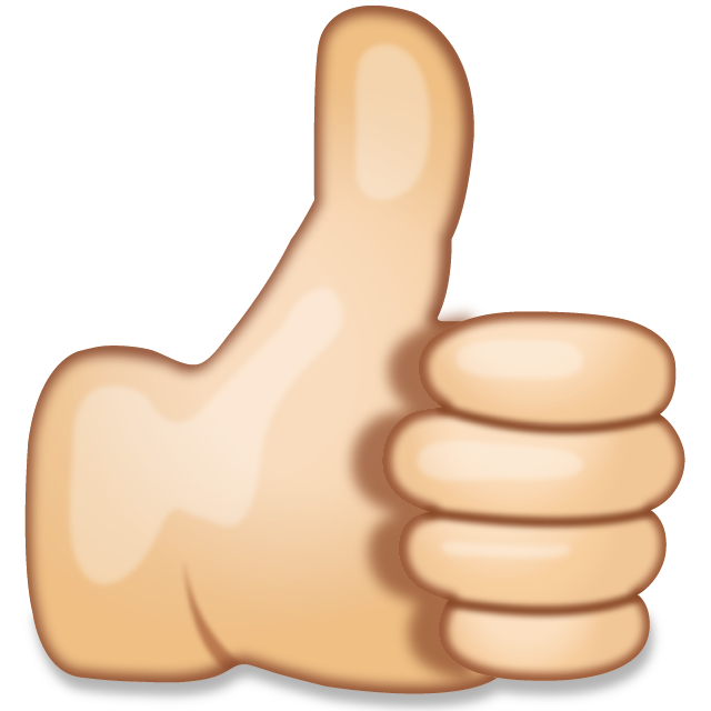 Download Thumbs Up Hand Sign Emoji