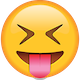 Download Tongue Out Emoji with Tightly Closed Eye