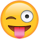 Download Tongue Out Emoji with Winking Eye