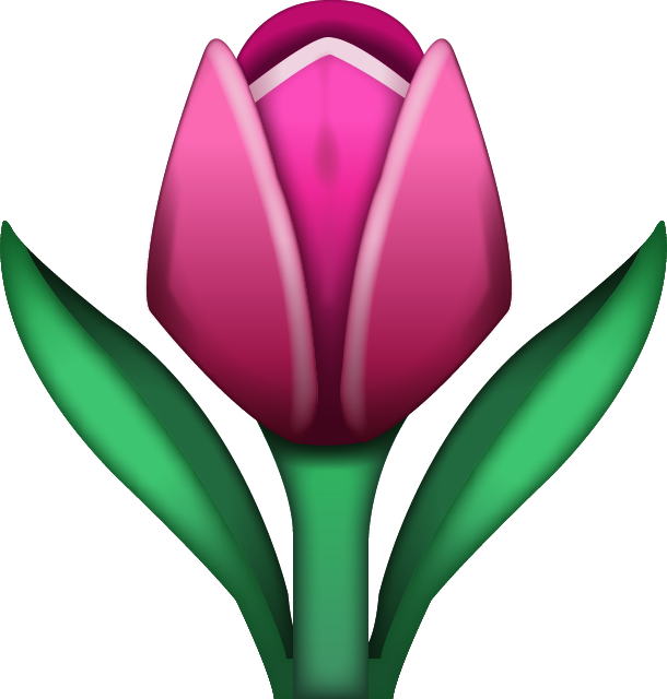 Download Tulip Emoji Icon In PNG