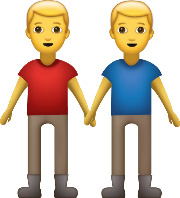 Download Two Men Holding Hands Iphone Emoji Icon In Jpg And Ai  Emoji Island-3904