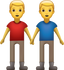 Download Two Men Holding Hands Iphone Emoji JPG