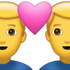 Download Two Men With Heart Iphone Emoji JPG