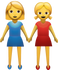 Download Two Women Holding Hands Iphone Emoji JPG