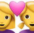 Download Two Women With Heart Iphone Emoji JPG