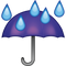Download Umbrella Rain Drops Emoji