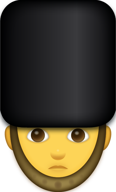 Download Unhappy Guardsman Iphone Emoji JPG