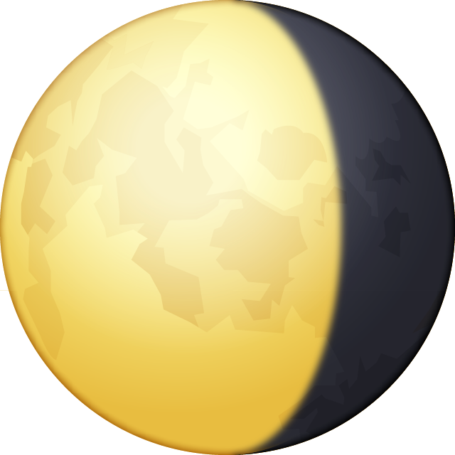 Download Waning Gibbous Moon Emoji In PNG