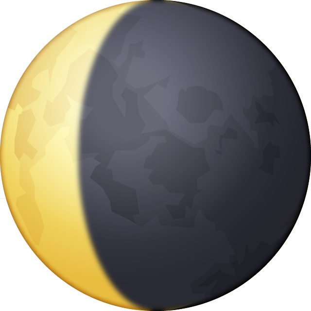 Download Waning Crescent Moon Emoji In PNG