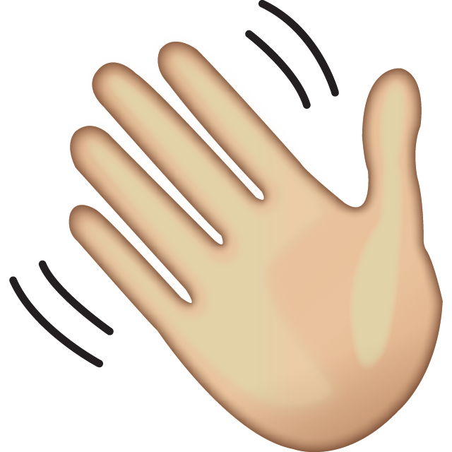 Download Waving Hand Sign Emoji
