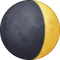 Download Waxing Crescent Moon Emoji In PNG
