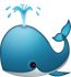 Download Whale Spouting Iphone Emoji JPG