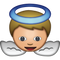 Download White Baby Angel Emoji