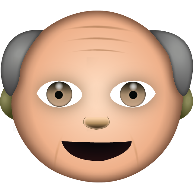 Download White Grandpa Emoji