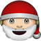 Download White Santa Claus Emoji