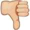 Download White Thumbs Down Sign Emoji Icon