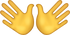 Download Wide Open Hands Sign Iphone Emoji JPG