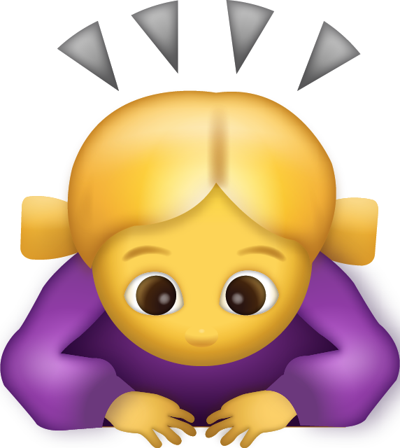 Download Woman Bowing Iphone Emoji JPG