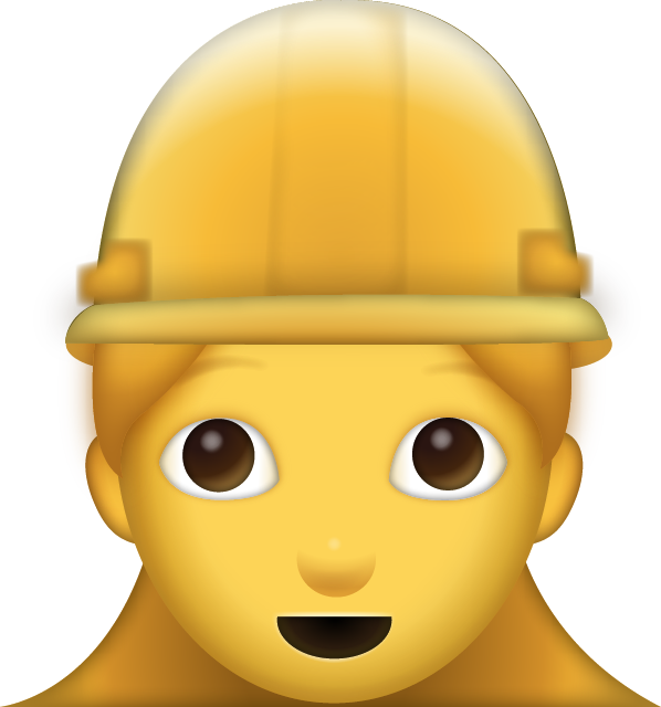 Download Woman Construction Worker Iphone Emoji JPG