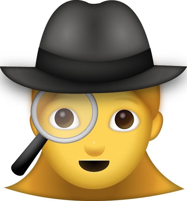 Download Woman Detective Iphone Emoji JPG
