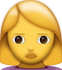 Download Woman Frowning Iphone Emoji JPG