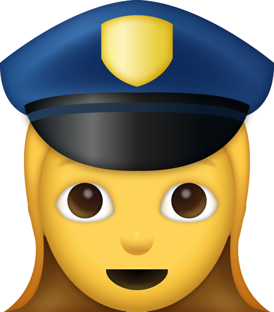 Download Woman Police Officer Iphone Emoji JPG