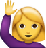 Download Woman Saying Hi Iphone Emoji JPG