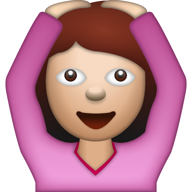 Download Woman Saying Yes Emoji