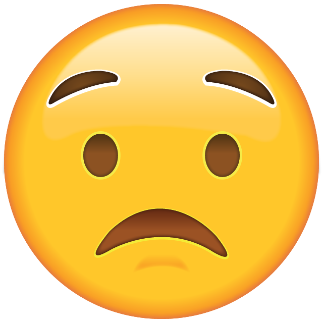 Download Worried Face Emoji