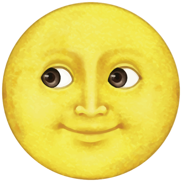 Download Yellow Moon Emoji