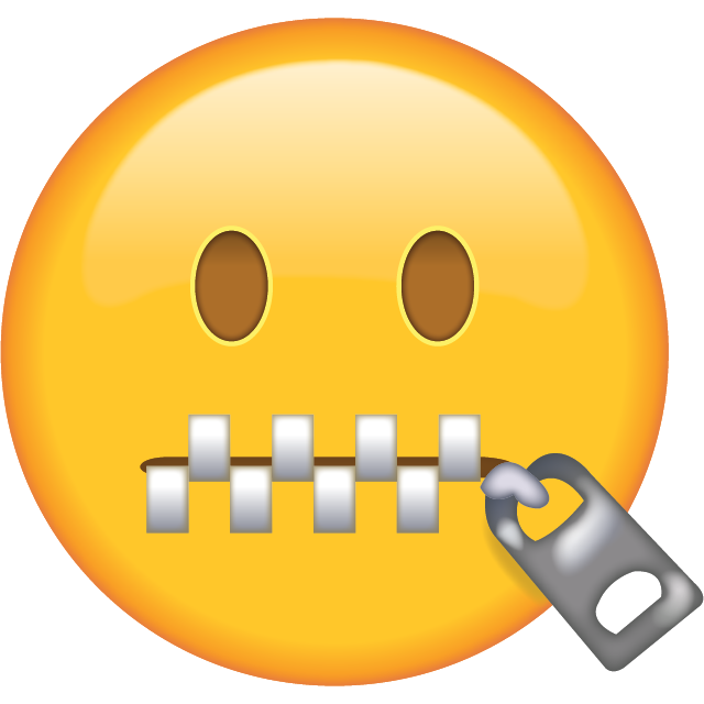 Download Zipper-Mouth Face Emoji [Free Emoji Images PNG]