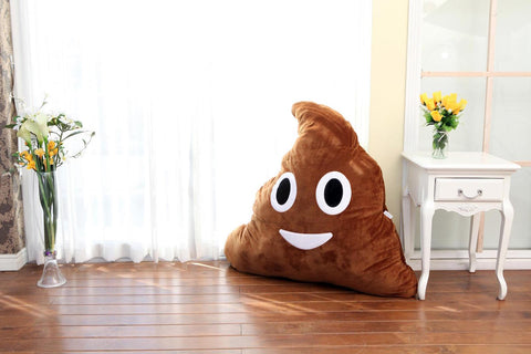 biggest emoji poop pillow plush!
