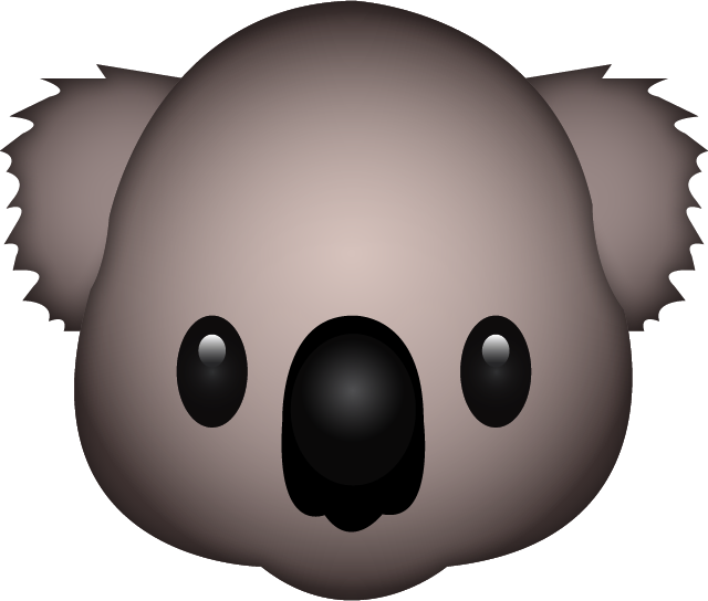 Download Koala Emoji In PNG