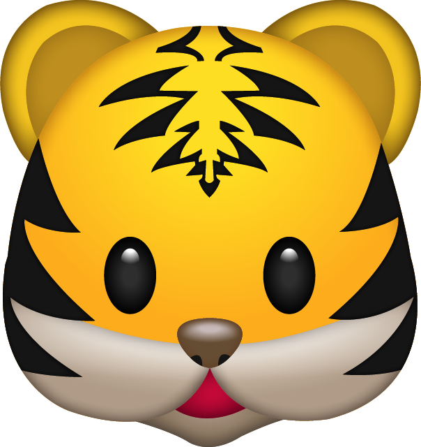 Download Tiger Emoji In PNG