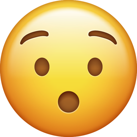 Download Surprised Emoji PNG [Iphone IOS Emoji PNG]