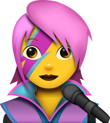 Download Girl Singer Emoji [Iphone IOS Emoji PNG]