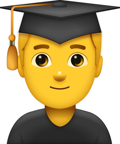 Download Graduated Man Emoji [Iphone IOS Emoji PNG]