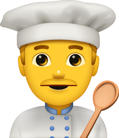 Download Cooking Man Emoji [Iphone IOS Emoji PNG]