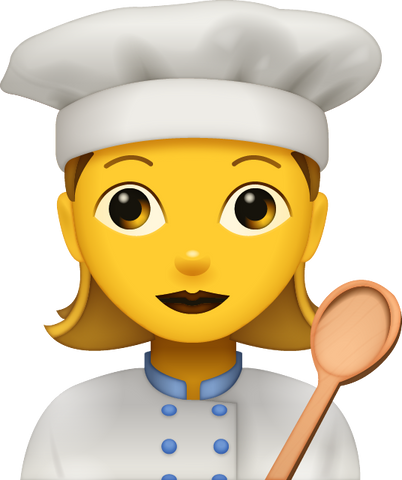 Download Cooking Woman Emoji [Iphone IOS Emoji PNG]