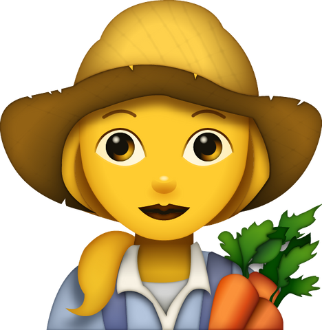Download Farmer Emoji - Woman [Iphone IOS Emoji PNG]
