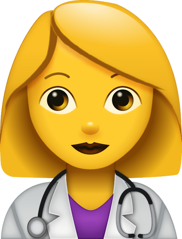 Download Doctor Emoji - Woman [Iphone IOS Emoji PNG]