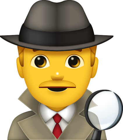 Download Detective Emoji - Man [Iphone IOS Emoji PNG]